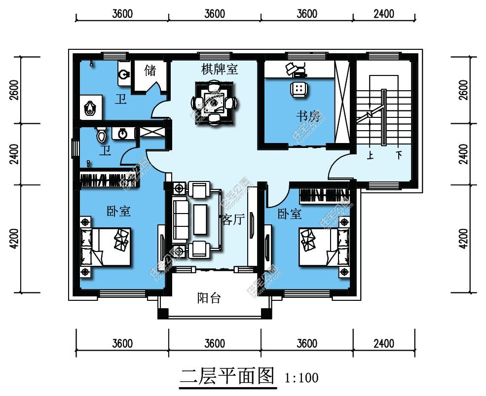 新农村欧式四层自建房别墅设计图 - 户型详情图片